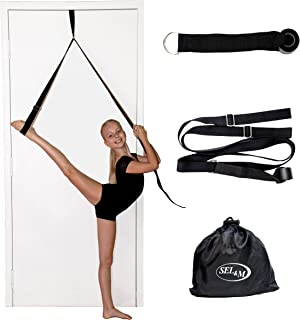 SEL & M Leg Stretching Strap – Easy to Use Ballet Stretch Band - Great Dance Equipment, Gymnastics Leg Stretcher, Door Str...