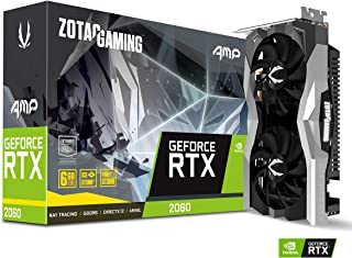 ZOTAC GAMING GeForce RTX 2060 AMP 6GB GDDR6 192-bit Gaming Graphics Card, Super Compact, Ice Storm 2.0, ZT-T20600D-10M