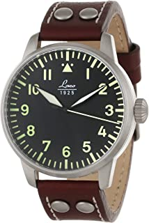 Laco / 1925 Men's 861688 Laco 1925 Pilot Classic Stainless Steel Automatic Watch with Brown Leather Band