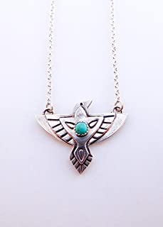 Sterling silver Raven Thunderbird necklace