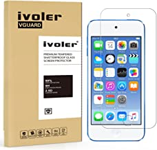ivoler [2 Pack] [Tempered Glass] Screen Protector Compatible iPod Touch 7G 2019 6G 5G (7th 6th 5th Generation), 0.2mm Ultra Thin 9H Hardness 2.5D Round Edge,Anti Scratch and Bubble-Free