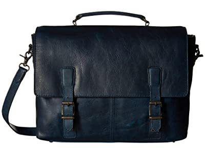 Frye Logan Top-Handle (Navy Antique Pull Up) Top-handle Handbags