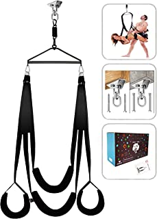 BELSIANG Adult Sex Swing and 360 Degree Spinning Indoor Swing, Sex Swing Set with Premium Paint Stand and Widened Thick Comfortable Swing(Ultimate Enhanced Version)