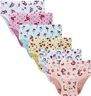 Cadidi Dinos Little Girls Soft 100% Cotton Underwear Toddler Panties Kids Assorted Briefs
