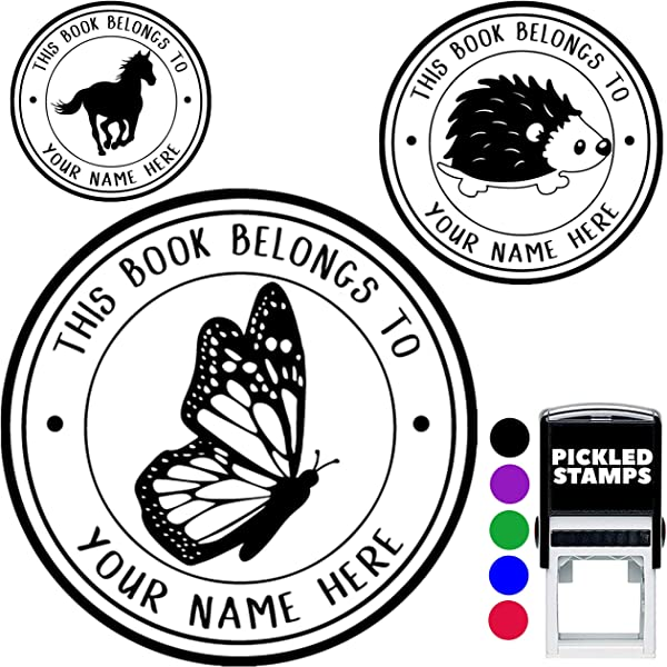 Library Book Name Stamp Personalized This Belongs To Custom Self Inking Or Library Teacher Customized Name From The Ex Libris Of