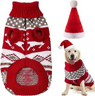 PetPhindU Weihnachten Elch Pyjama Mantel f/ür Kleine Sweatshirt-Partei-Weihnachts Overall f/ür Hund Vierbeinigen Kleidung Winter Hoodie Mittlere Hunde