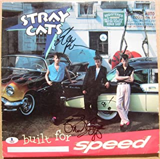 Stray Cats Seltzer Rocker 2x signed LP Album Cover Built for Speed BAS Beckett