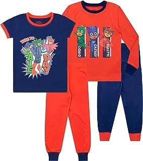 PJ Masks Pijamas Paquete de 2 para niños niños Gatuno Gekko Buhíta Ajuste Ceñido
