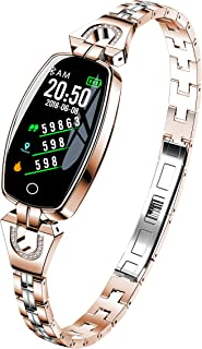 Hangang Smart Bracelet Watch Fitness Tracker Mujer Excelente frecuencia cardíaca Monitoreo de la presión Arterial Pulsera Deportiva,Reloj Deportivo para Dama Lady Pulsera Inteligente