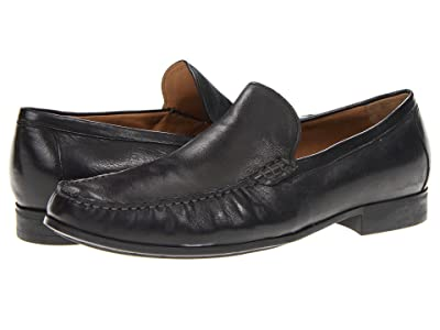 Johnston & Murphy Cresswell Dress Slip-On (Black Sheepskin) Men