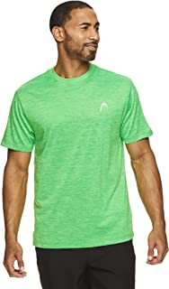 HEAD Men's Ultra Hypertek Crewneck Gym Training & Workout T-Shirt - Short Sleeve Activewear Top - Green - S