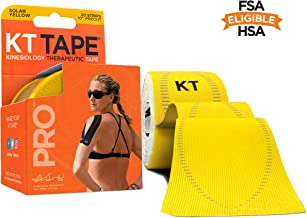 KT Tape Pro Kinesiology Sports Tape, Latex Free, Water Resistant, Therapeutic Tape, Pro & Olympic Choice, Precut & Uncut Options, 1 Roll