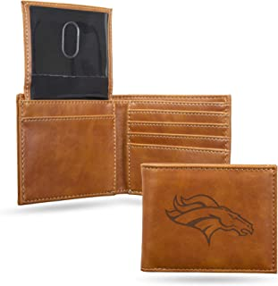 NFL Rico Industries Laser Engraved Billfold Wallet, Denver Broncos
