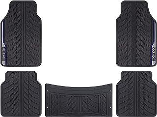 SPARCO PVC CAR MATS, BLACK/BLUE, 5PCS/SET