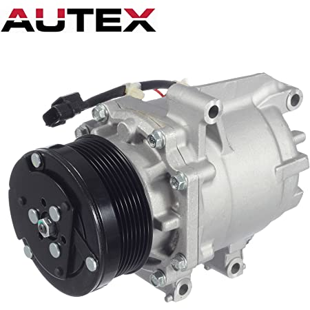 BuyAutoParts 60-82556R6 New For Honda Civic 2006-2011 AC Compressor w//A//C Condenser /& Repair Kit