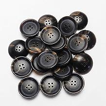 茶色系 水牛ボタン 19mm 4穴 20個入り 7134ON-19-BR-232