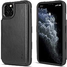Migeec Funda para iPhone 11 Pro MAX - Funda Tipo Cartera con Bolsillos para Tarjetas de Cuero PU [a Prueba de Golpes] Funda con Tapa Trasera para iPhone 11 Pro MAX - Negro