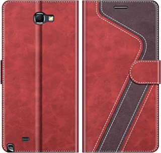 MOBESV Funda para Samsung Galaxy Note 2, Funda Libro Samsung Note 2, Funda Móvil Samsung Galaxy Note 2 Magnético Carcasa para Samsung Galaxy Note 2 Funda con Tapa, Rojo