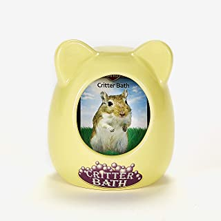 Kaytee Small Animal Ceramic Critter Bath, Ideal for Dwarf Hamsters and Gerbils, Color May Vary
