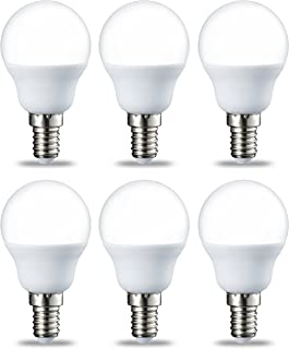 comprar comparacion AmazonBasics Bombilla LED E14, P45, 5.5W (equivalente a 40W), Blanco Cálido- 6 unidades