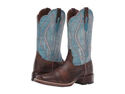 Ariat Primetime (Tack Room Chocolate/Lapis) Cowboy Boots