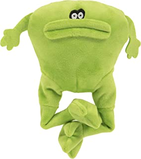 goDog, Action Plush Frog, Animated Squeaker Dog Toy, Bite-Activated Motion, Chew Resistant + Reinforced Seams