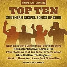 Singing News Fan Awards Top Ten Southern Gospel Songs of 2009