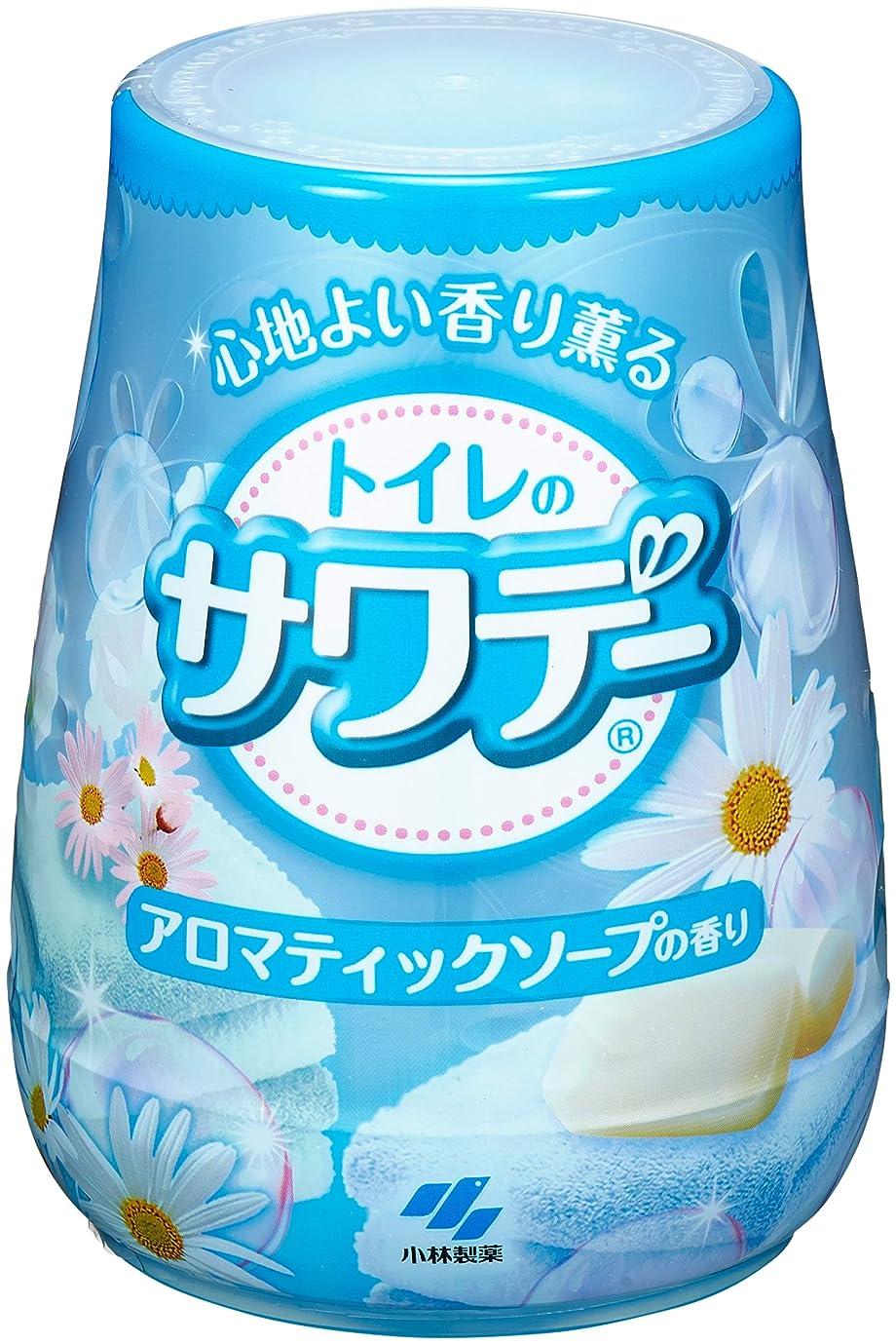 後継バイパス付けるサワデー 消臭芳香剤 トイレ用 本体 アロマティックソープの香り 140g
