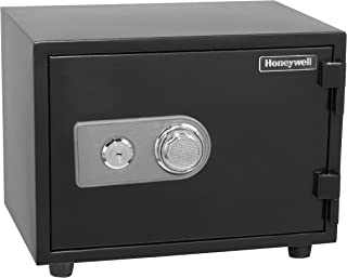 Honeywell Safes & Door Locks - 2102 Steel 1 Hour Fireproof Water Resistant Security Safe with Dual Dial and Key Lock Prote...