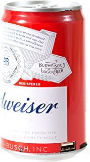 Budweiser Bluetooth Can Speaker- Wireless Audio Sound Stereo Beer Can, Bluetooth Budweiser Music Player (Budweiser Red)
