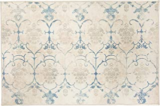 RUGGABLE Washable Stain Resistant Indoor/Outdoor, Kids, Pets, and Dog Friendly Accent Rug, 3'x5', Leyla Creme Vintage