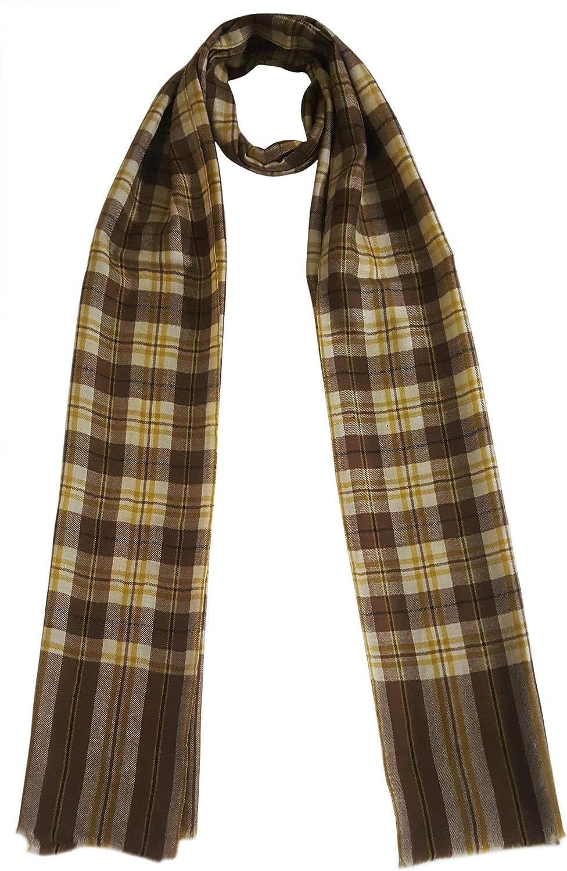 Mehrunnisa Handcrafted Pure Pashmina Cashmere Wool Muffler Scarf Wrap  Unisex (GAR2573)