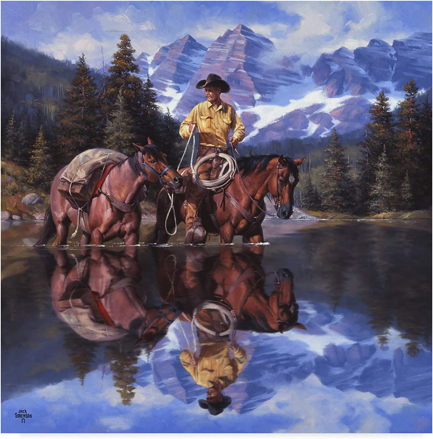 Trademark Fine Art Reflections of The Rockies Wall Decor by Jack Sorenson, 14x14