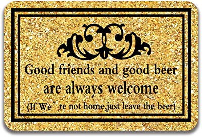Good Friends Entrance Floor Mat Funny Doormat Door Mat Decorative Indoor Outdoor Doormat Non-Woven 23.6 by 15.7 Inch Machine Washable