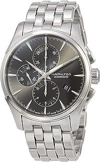 Hamilton - Reloj Hamilton Jazzmaster Auto Chrono Gris Brazalete Acero H32586181