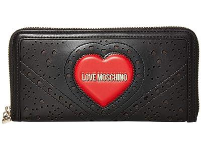 Herschel Supply Co. Search RFID (Polka Dot Crosshatch Peacoat Small) Wallet Handbags