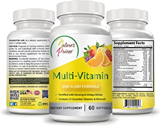 Nature's Prime Multi Vitamin One-A-Day Formula for Men & Women - Unisex - Making Life Healthier One Soft Gel A Day