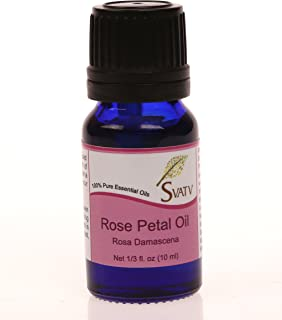 SVATV Essential Oil 10 mL (1/3 oz) 100% Pure, Undiluted, Therapeutic Grade (ROSE PETAL)