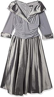 Jessica Howard Women's 3/4 Sleeve Rhinestone Cuff Portrait Collar Dress