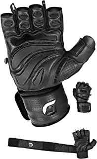 Elite Leather Gym Gloves with Built in 2