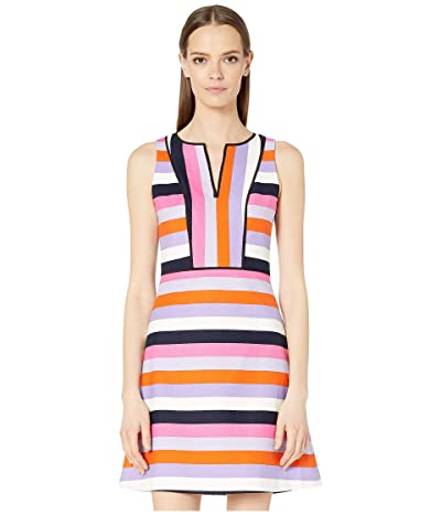 Kate Spade New York Sunset Stripe Jacquard Dress (Multi) Women