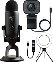 Logitech StreamCam - Live Streaming Webcam for Youtube & Twitch, Full 1080p HD 60fps, USB-C Connection Bundle with Blue Ye...