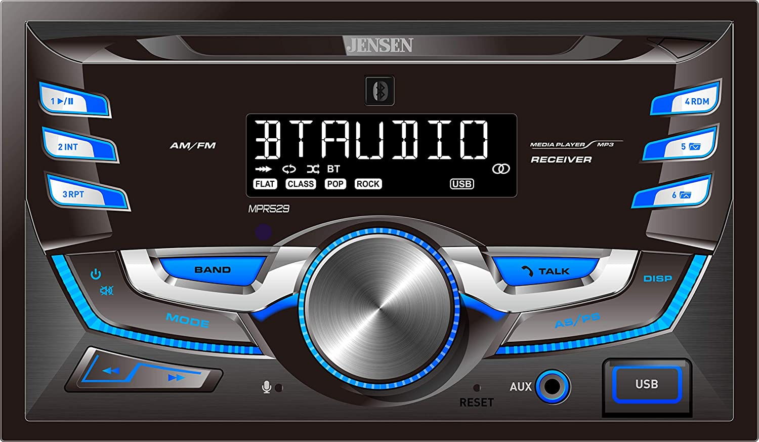 JENSEN Be Ranking TOP12 super welcome MPR529 Double DIN Car Stereo 7 Receiver LC Character with