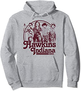 Netflix Stranger Things Hawkins Indiana Group Shot 1985 Sweat à Capuche