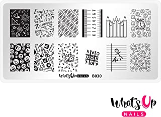 Whats Up Nails - B030 School's In Session Stamping Plate for Back To School Nail Art Design