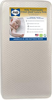 Sealy Baby Posturepedic Crown Jewel Luxury Firm Toddler & Baby Crib Mattress - 220 PostureTech Coils, Waterproof & Stain-Resistant Cover, 51.7