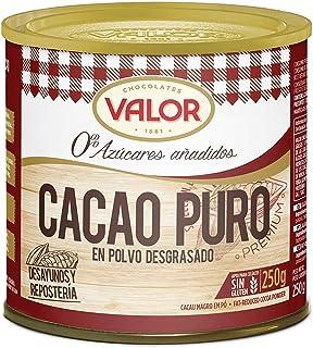 comprar comparacion Chocolates Valor - Cacao Puro En Polvo Desgrasado - 250 g