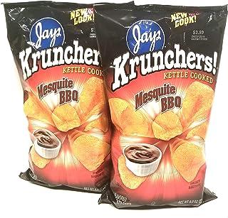 JAY'S BIG BAG MESQUITE BBQ KRUNCHERS Potato Chips 2 Pack 8oz bags