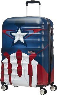 Disney Wavebreaker Marvel - Maleta, Cuatro Ruedas, Multicolor (Captain America Close-Up), M (67cm-64L)