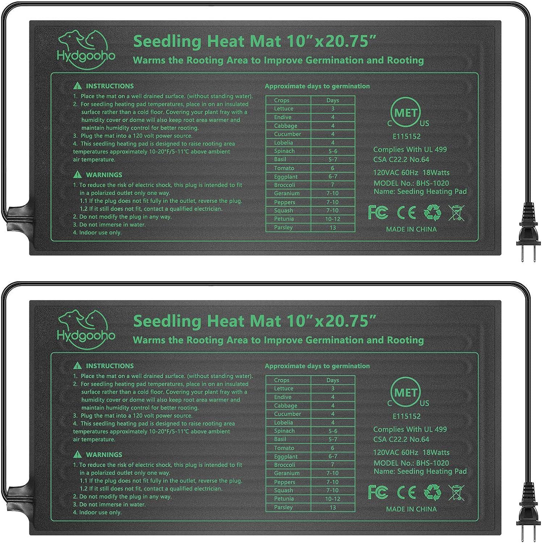 HYDGOOHO 2 Pack Durable Regular store Waterproof Hydrop Seedling Mat Reservation Heat Warm